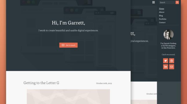 Flat Homepage